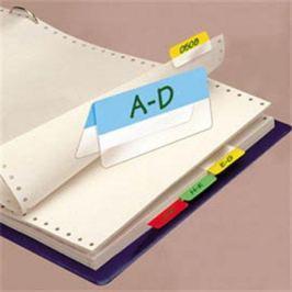 Záložky, 4x6 lístků, 12x40 mm, 3L, mix barev