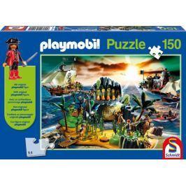 SCHMIDT Pirátský ostrov s Playmobil postavičkou 150 dílků
