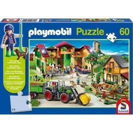 SCHMIDT Puzzle  56040 Na farmě s Playmobil postavičkou 60 dílků