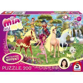 SCHMIDT Třpytivé puzzle Mia a já 200 dílků
