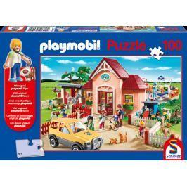 SCHMIDT Puzzle  56091 Veterinární klinika Playmobil postavičkou 100 dílků