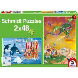 SCHMIDT Puzzle Vikingové 2x48 dílků