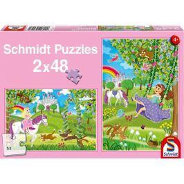 SCHMIDT Puzzle Princezny v zámecké zahradě 2x48 dílků