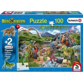 SCHMIDT Puzzle  56192 Schleich Království dinosaurů 100 dílků