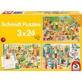 SCHMIDT Puzzle Den ve školce 3x24 dílků
