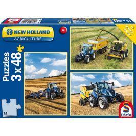 SCHMIDT Puzzle  56214 Traktory New Holland 3x48 dílků