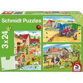SCHMIDT Puzzle Na farmě 3x24 dílků