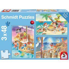 SCHMIDT Puzzle Piráti 3x48 dílků