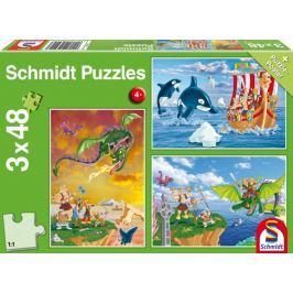 SCHMIDT Puzzle Vikingové 3x48 dílků