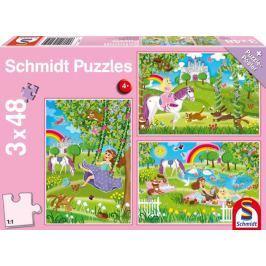 SCHMIDT Puzzle Princezny v zámecké zahradě 3x48 dílků