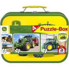 SCHMIDT Puzzle  56497 John Deere II. 2x60 a 2x100 dílků v plechovém kufříku