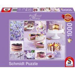 SCHMIDT Puzzle Sweet Dreams: Fialové pokušení 1000 dílků