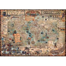 HEYE Puzzle  3000 dílků - R.Zigic, Pirátská mapa světa