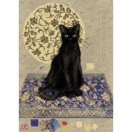 HEYE Metalické puzzle Černá kočka 1000 dílků