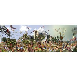 HEYE Panoramatické puzzle Na pláži 2000 dílků