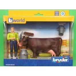 Bruder - Zemědělský set s koněm a figurkou