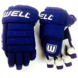"WinnWell Hokejové rukavice  GX8 SR modrá, 15"" tm.modrá-bílá"