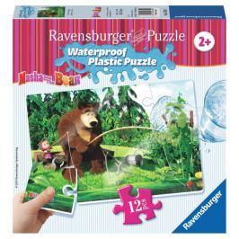 RAVENSBURGER Voděodolné puzzle 12 dílků - Máša a medvěd: Na rybách