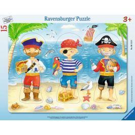 RAVENSBURGER Deskové puzzle  15 dílků - Piráti s pokladem