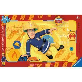 RAVENSBURGER Deskové puzzle  15 dílků - Požárník Sam