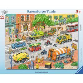 RAVENSBURGER Vkládačka Doprava ve městě 12 dílků