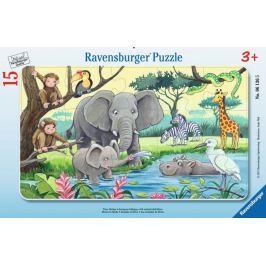 RAVENSBURGER Puzzle Africká zvířata 15 dílků