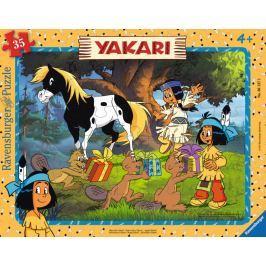 RAVENSBURGER Puzzle Veselý Yakari 35 dílků