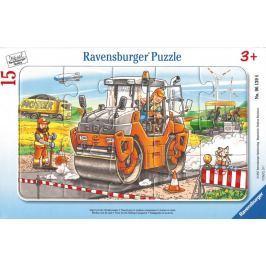 RAVENSBURGER Puzzle Práce se silničním válcem 15 dílků
