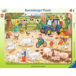 RAVENSBURGER Puzzle Na velkém statku 40 dílků