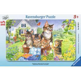 RAVENSBURGER Deskové puzzle  15 dílků - Sladká koťátka