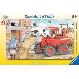 RAVENSBURGER Puzzle Práce s bagrem 15 dílků