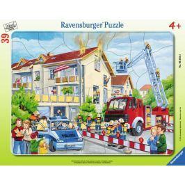 RAVENSBURGER Puzzle Zásah hasičů 39 dílků