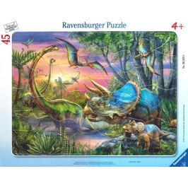RAVENSBURGER Puzzle Dinosauři za úsvitu 45 dílků