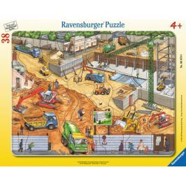 RAVENSBURGER Puzzle Na staveništi 38 dílků