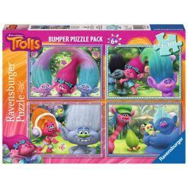 RAVENSBURGER Dětské puzzle  4 x 100 dílků - Trollové