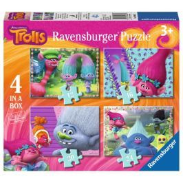 RAVENSBURGER Puzzle Trollové 4v1 (12,16,20,24 dílků)