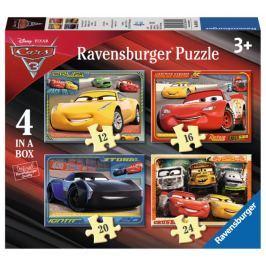 RAVENSBURGER Puzzle Auta 4v1 (12,16,20,24 dílků)
