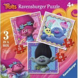 RAVENSBURGER Puzzle pro děti 3v1   06889 Trollové 25,36,49 dílků