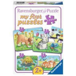 RAVENSBURGER Puzzle  06951 Domácí mazlíčci 4v1