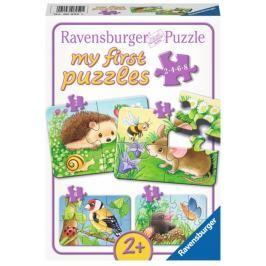 RAVENSBURGER Puzzle  06952 Zvířátka v zahradě 4v1
