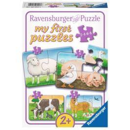RAVENSBURGER Moje první puzzle Domácí zvířátka 4v1 (2,4,6,8 dílků)