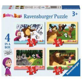 RAVENSBURGER Puzzle 4v1  - Dobrodružství s Mášou 12,16,20,24 dílků
