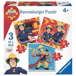 RAVENSBURGER Puzzle pro děti 3v1  - Požárník Sam (25,36,49 dílků)