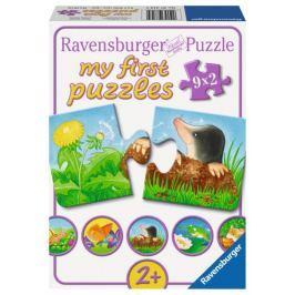 RAVENSBURGER Puzzle pro nejmenší  07313 Zvířátka na zahrádce