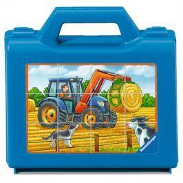 RAVENSBURGER Obrázkové kostky Farmářská vozidla, 12 kostek