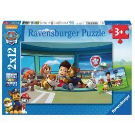 RAVENSBURGER Dětské puzzle  2x12 dílků - Ryder a tlapková patrola v akci