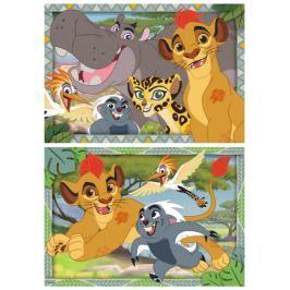RAVENSBURGER Dětské puzzle  2x12 dílků - Lví Hlídka: Chraňte království