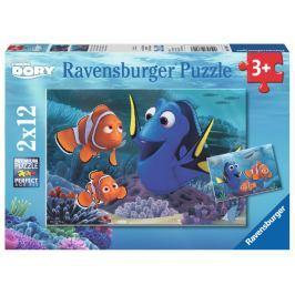 RAVENSBURGER Dětské puzzle  Hledá se Dory 2x12 dílků