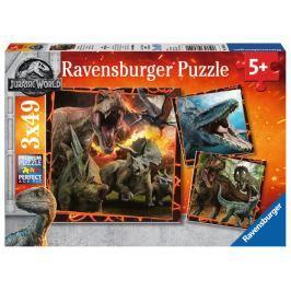 RAVENSBURGER Puzzle Jurský svět: Instinkt lovce 3x49 dílků