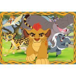 RAVENSBURGER Dětské puzzle  35 dílků - Lví hlídka: Strážit, chránit a bránit!